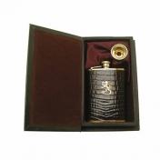 Taskumatti, croco, kullattu tinaleijona + tratti kirjalaatikko W3311