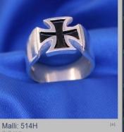 Maltanristi sormus hopea