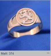 Leijona sormus, runko keltakulta, leijona joko kelta- tai valkokultaa 585 %