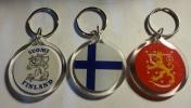 Avaimenperä, Akryyli,pyöreä, lippu/ leijona