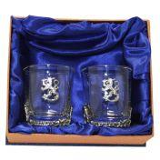 Suomileijona whiskylasipari