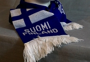 Kaulahuivi, Suomi-Finland, sinivalkoinen
