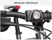 B5R polkupyorän ajovalo + B2R takavalo