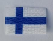 Suomen Lippu hihaan tarrapohjalla