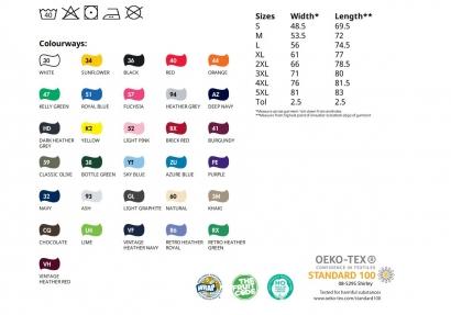 1036 Valueweight O-Aukko T-paita S - XXL